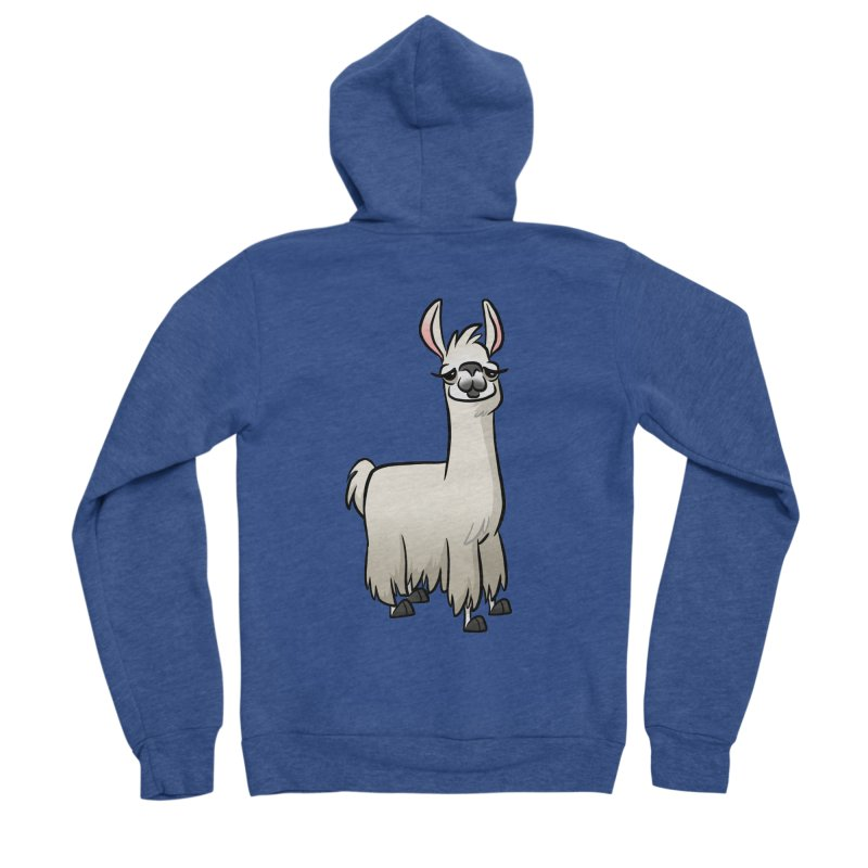 Llama Caricature Women's Sponge Fleece Zip-Up Hoody by binarygod's Artist Shop
