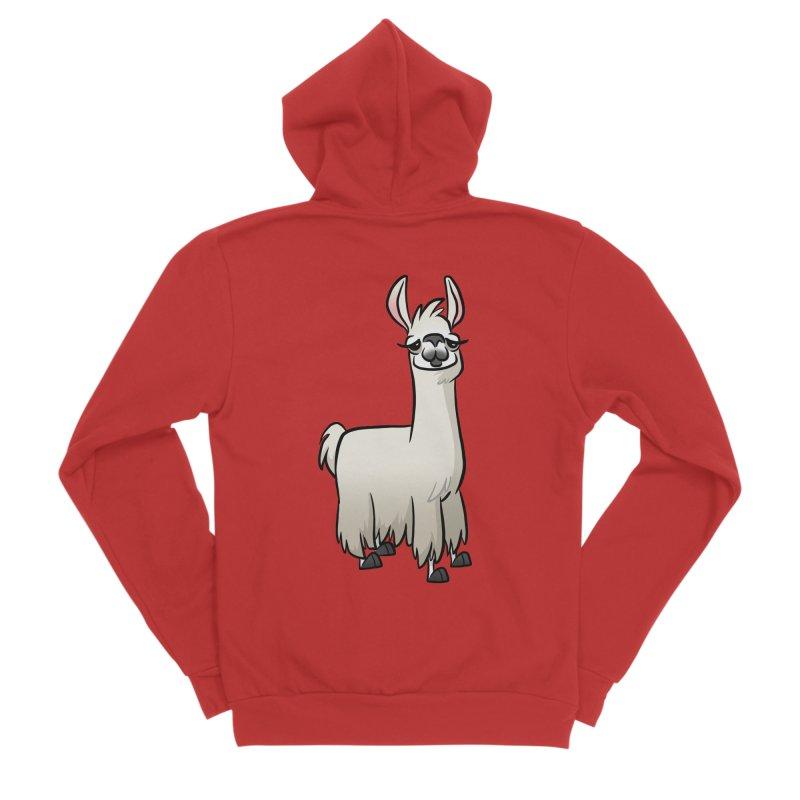 Llama Caricature Women's Zip-Up Hoody by binarygod's Artist Shop
