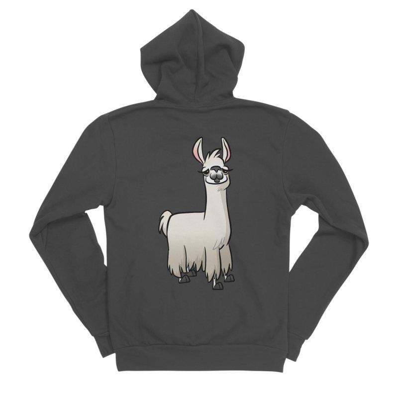 Llama Caricature Men's Sponge Fleece Zip-Up Hoody by binarygod's Artist Shop