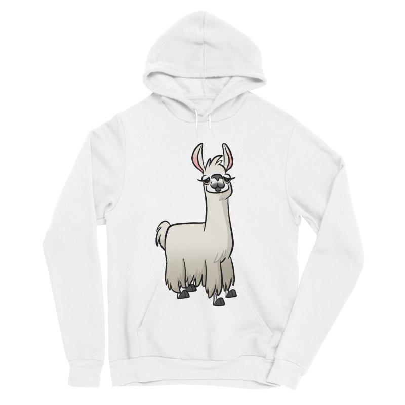 Llama Caricature Women's Sponge Fleece Pullover Hoody by binarygod's Artist Shop