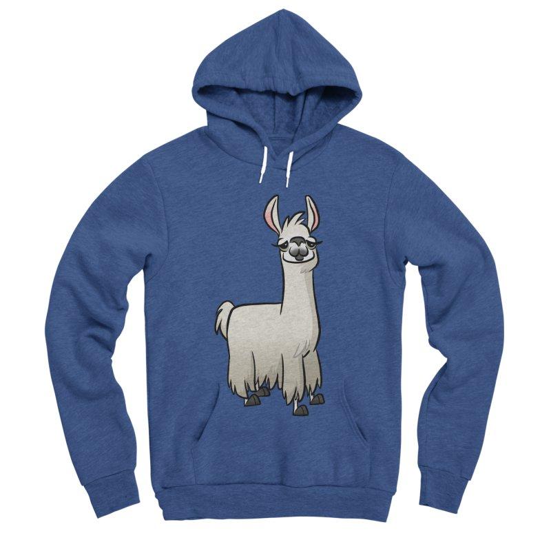 Llama Caricature Men's Sponge Fleece Pullover Hoody by binarygod's Artist Shop
