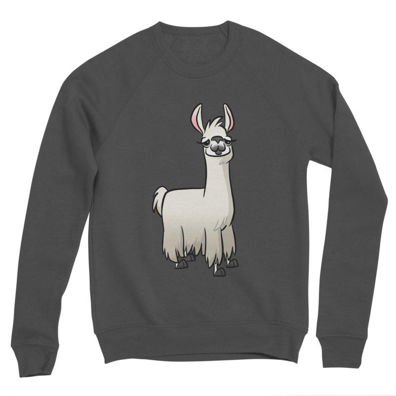 Llama Caricature Women's Sponge Fleece Sweatshirt by binarygod's Artist Shop