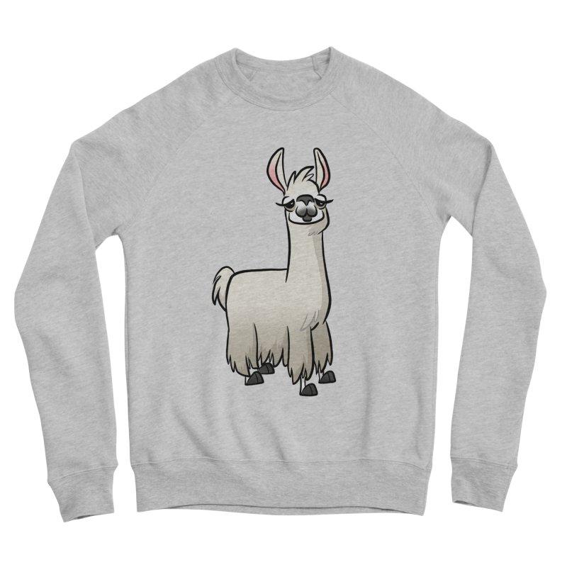 Llama Caricature Men's Sponge Fleece Sweatshirt by binarygod's Artist Shop