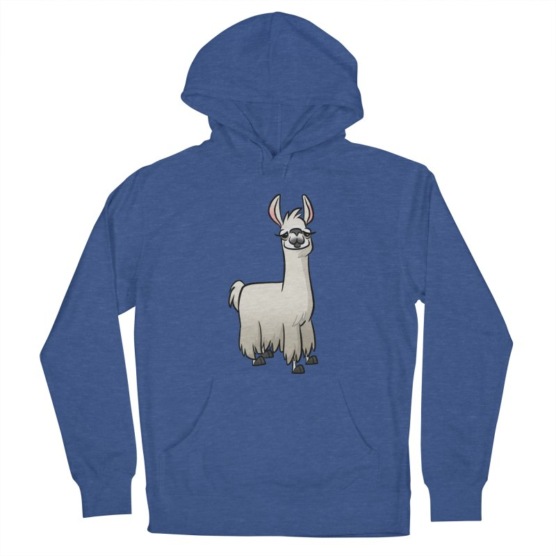 Llama Caricature Women's French Terry Pullover Hoody by binarygod's Artist Shop