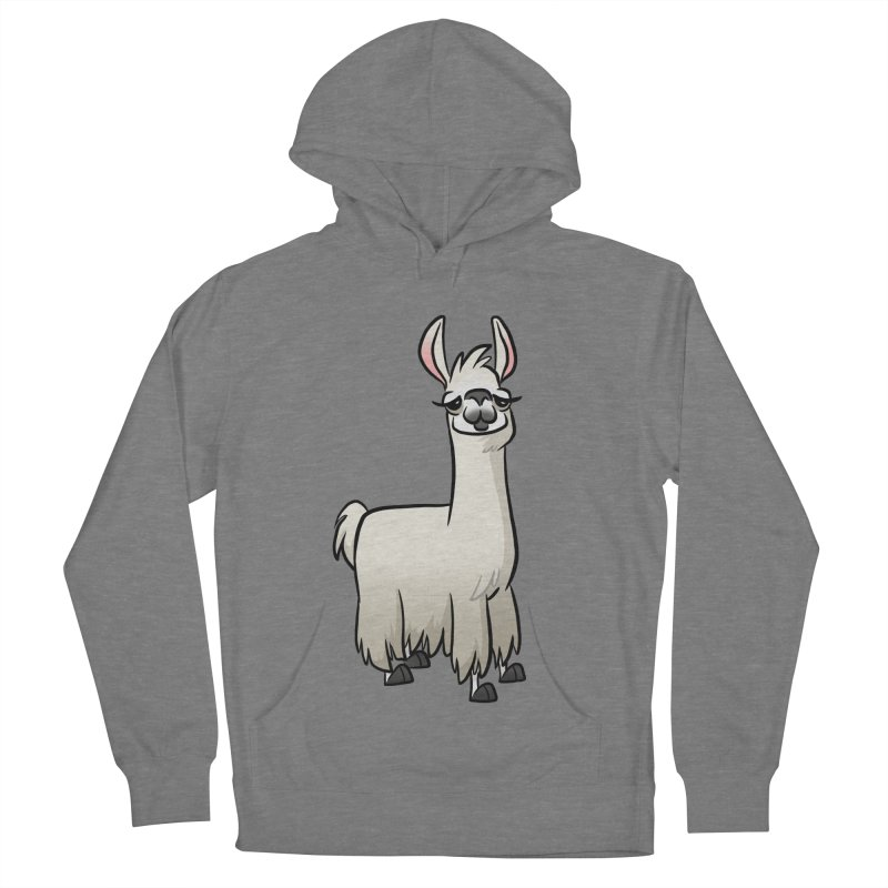 Llama Caricature Men's French Terry Pullover Hoody by binarygod's Artist Shop