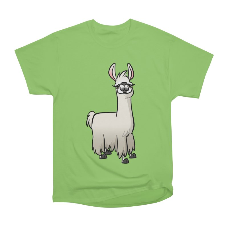 Llama Caricature Women's Heavyweight Unisex T-Shirt by binarygod's Artist Shop