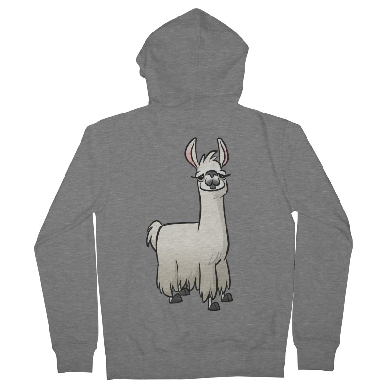 Llama Caricature Men's French Terry Zip-Up Hoody by binarygod's Artist Shop