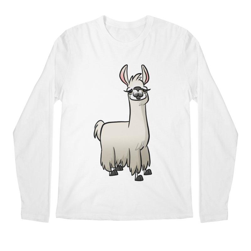 Llama Caricature Men's Regular Longsleeve T-Shirt by binarygod's Artist Shop