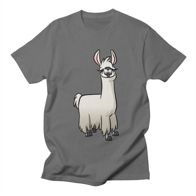 Llama Caricature Men's T-Shirt by binarygod's Artist Shop