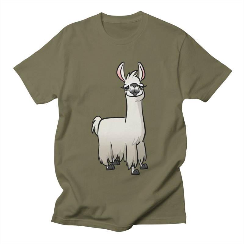 Llama Caricature Men's Regular T-Shirt by binarygod's Artist Shop