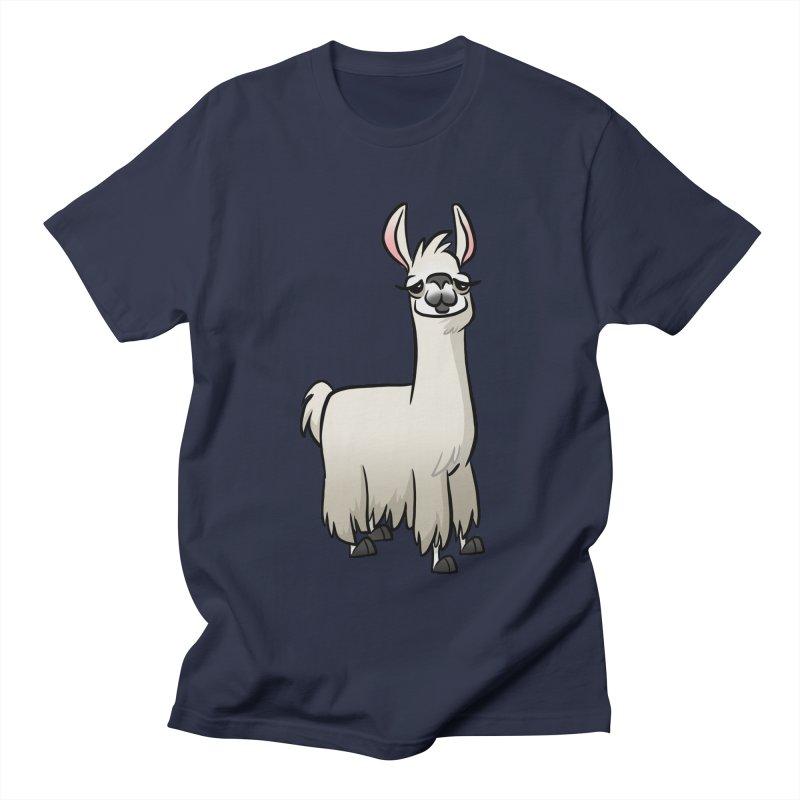 Llama Caricature Men's Regular T-Shirt by binarygod's Artist Shop