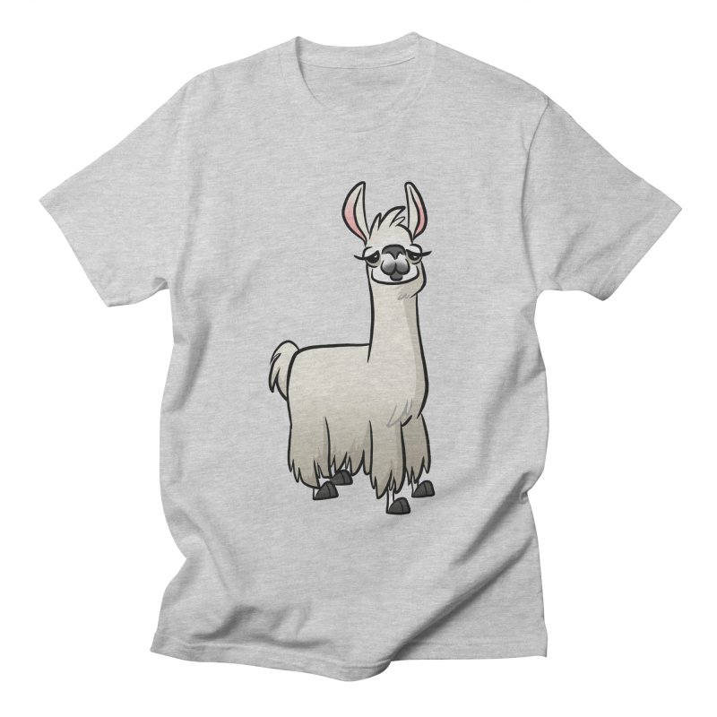 Llama Caricature Women's Regular Unisex T-Shirt by binarygod's Artist Shop