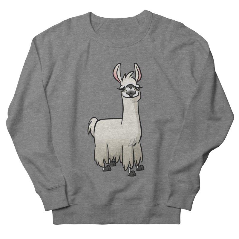 Llama Caricature Women's French Terry Sweatshirt by binarygod's Artist Shop