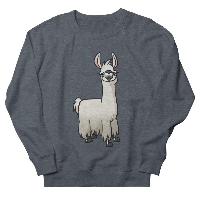 Llama Caricature Men's French Terry Sweatshirt by binarygod's Artist Shop