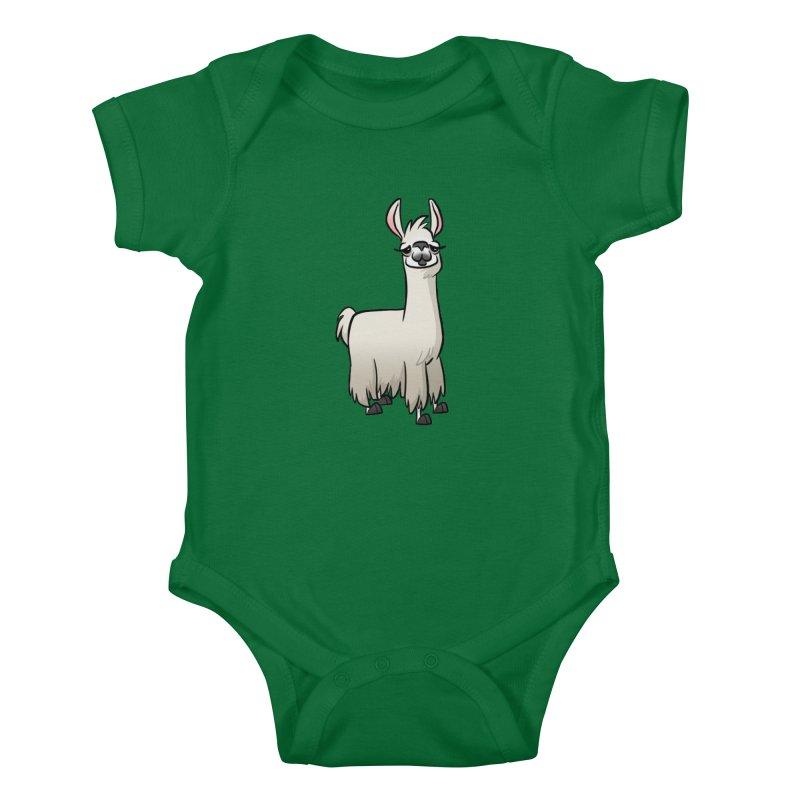 Llama Caricature Kids Baby Bodysuit by binarygod's Artist Shop