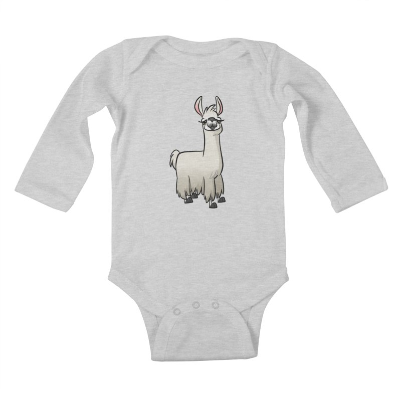 Llama Caricature Kids Baby Longsleeve Bodysuit by binarygod's Artist Shop