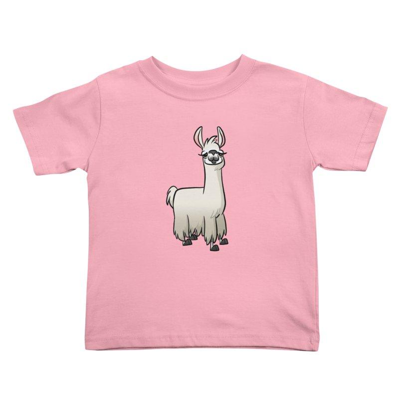 Llama Caricature Kids Toddler T-Shirt by binarygod's Artist Shop