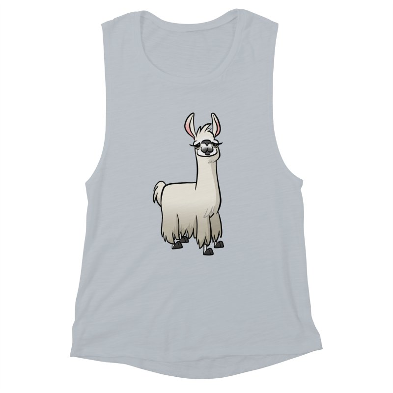 Llama Caricature Women's Muscle Tank by binarygod's Artist Shop