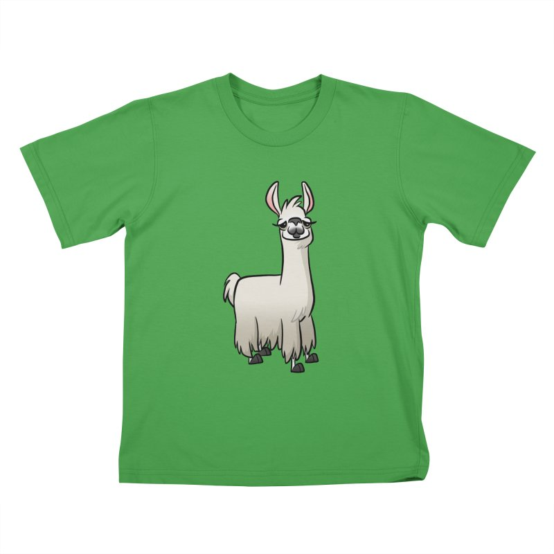 Llama Caricature Kids T-Shirt by binarygod's Artist Shop