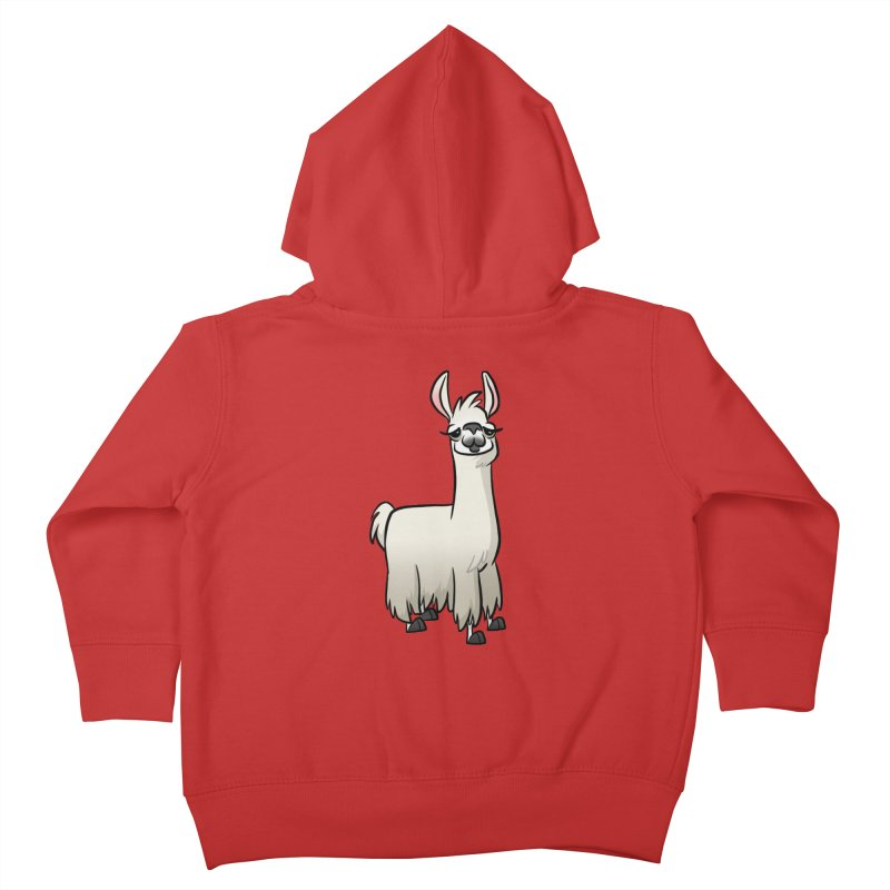 Llama Caricature Kids Toddler Zip-Up Hoody by binarygod's Artist Shop