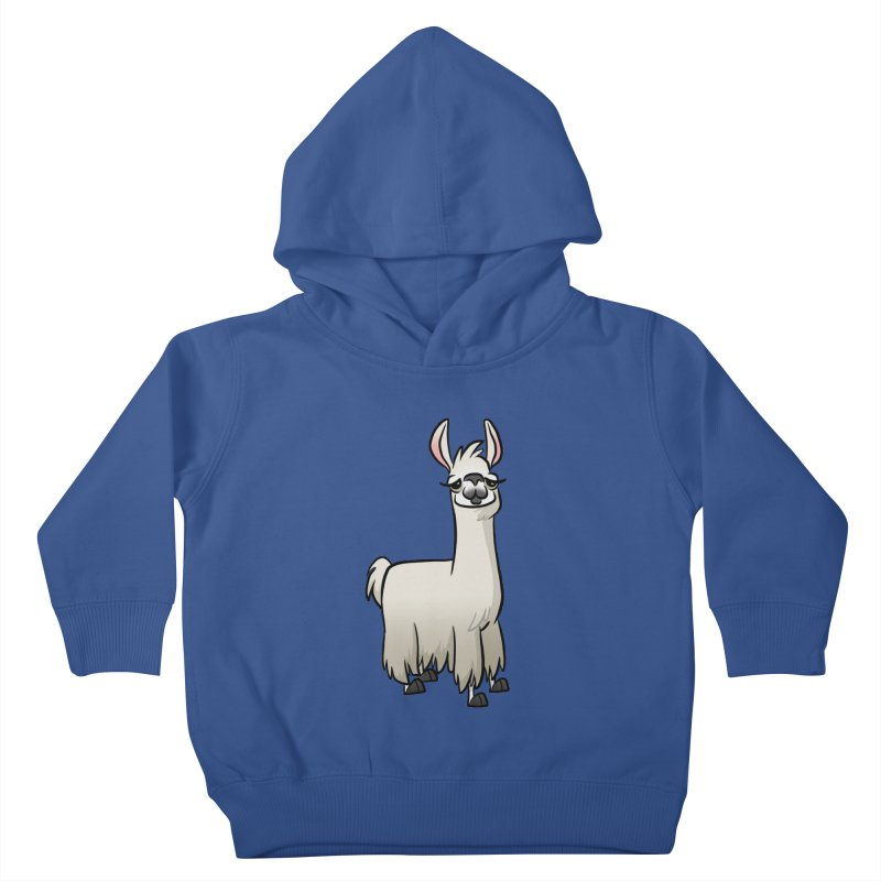 Llama Caricature Kids Toddler Pullover Hoody by binarygod's Artist Shop