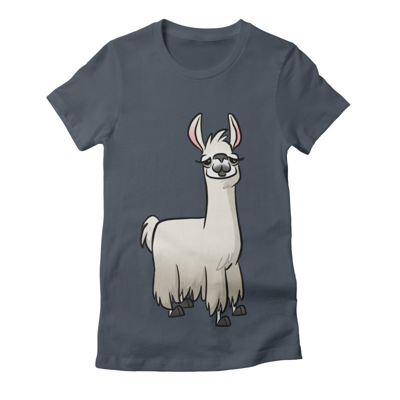 Llama Caricature Women's T-Shirt by binarygod's Artist Shop