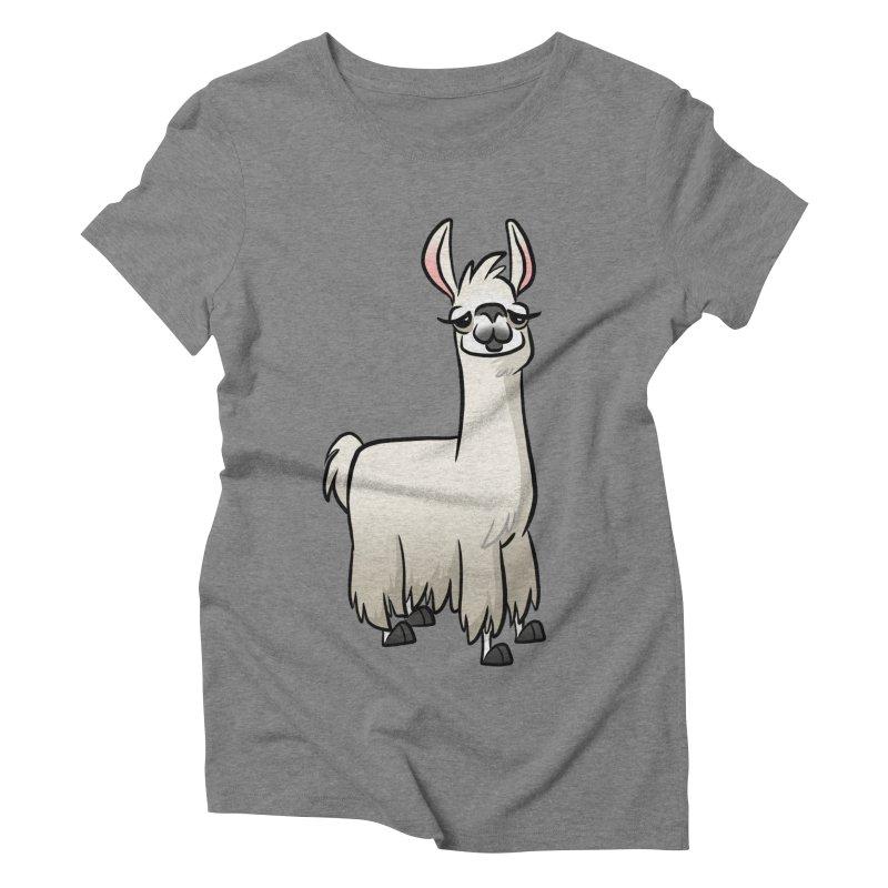 Llama Caricature Women's Triblend T-Shirt by binarygod's Artist Shop