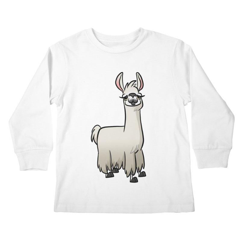 Llama Caricature Kids Longsleeve T-Shirt by binarygod's Artist Shop