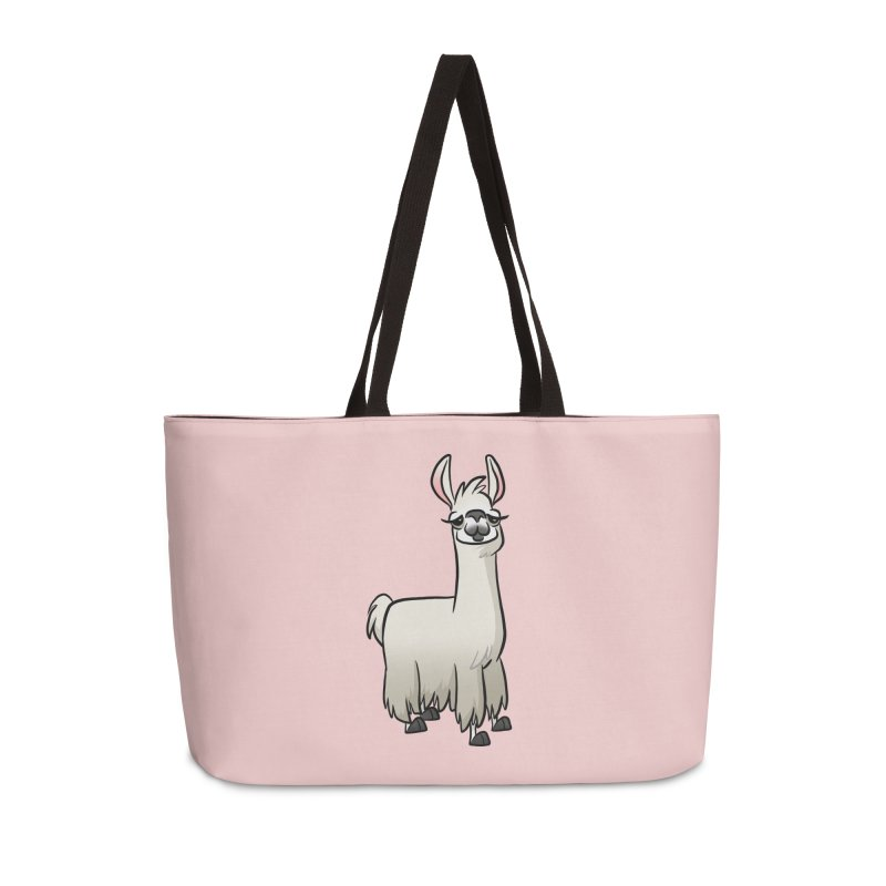 Llama Caricature Accessories Weekender Bag Bag by binarygod's Artist Shop