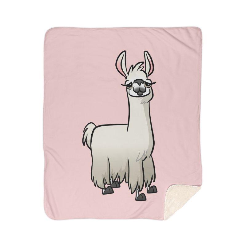 Llama Caricature Home Sherpa Blanket Blanket by binarygod's Artist Shop