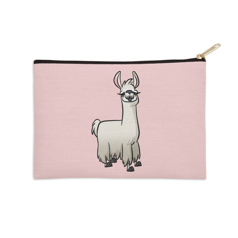 Llama Caricature Accessories Zip Pouch by binarygod's Artist Shop