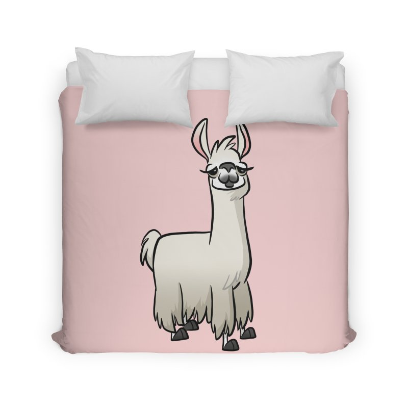 Llama Caricature Home Duvet by binarygod's Artist Shop