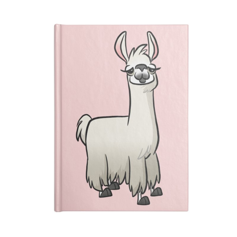 Llama Caricature Accessories Lined Journal Notebook by binarygod's Artist Shop