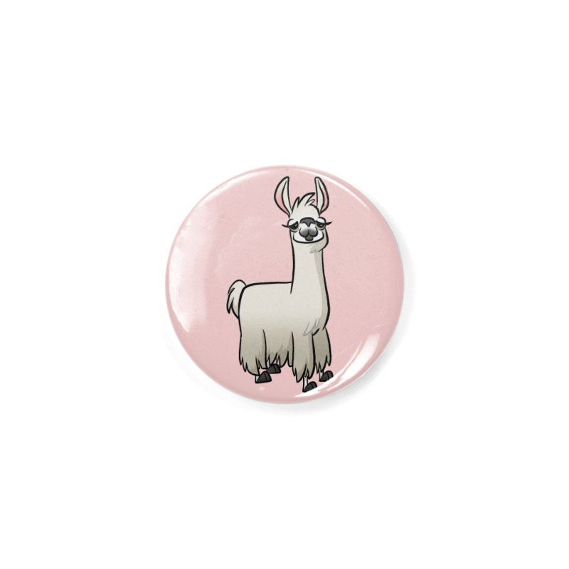 Llama Caricature Accessories Button by binarygod's Artist Shop