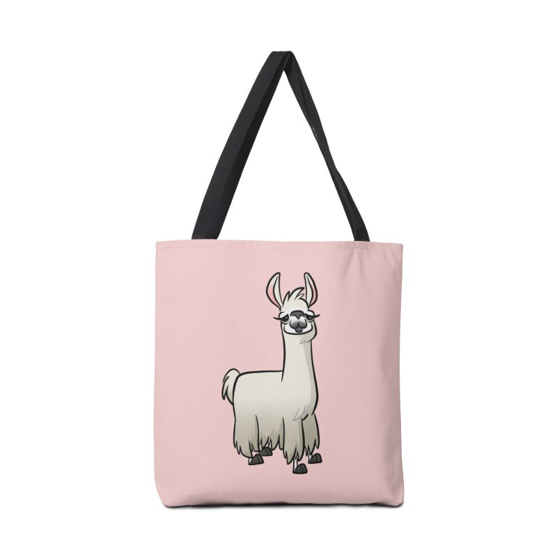 Llama Caricature Accessories Tote Bag Bag by binarygod's Artist Shop