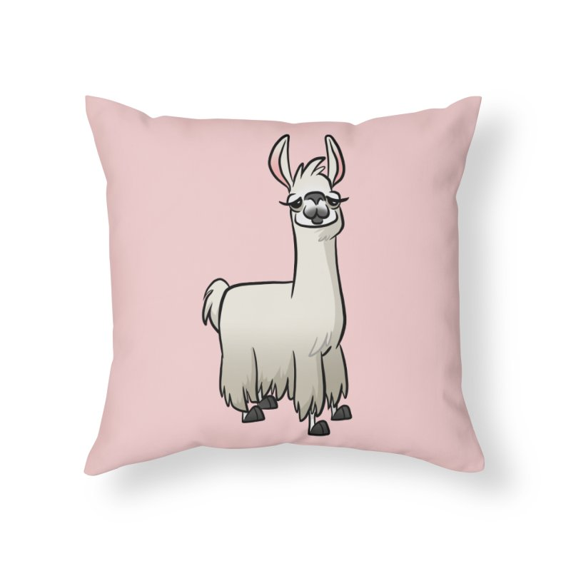 Llama Caricature Home Throw Pillow by binarygod's Artist Shop