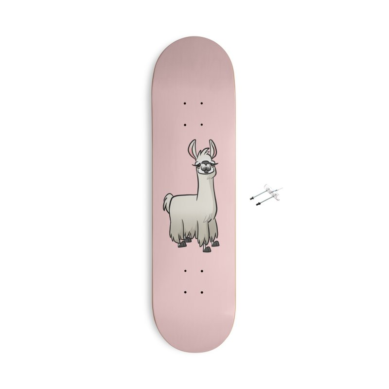 Llama Caricature Accessories With Hanging Hardware Skateboard by binarygod's Artist Shop