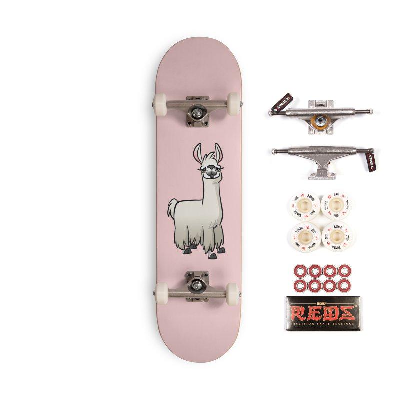 Llama Caricature Accessories Complete - Pro Skateboard by binarygod's Artist Shop