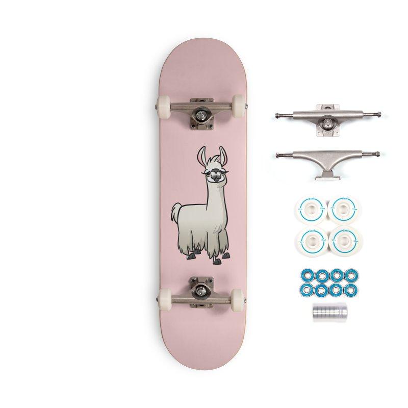 Llama Caricature Accessories Complete - Basic Skateboard by binarygod's Artist Shop