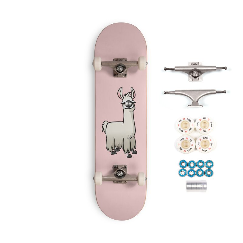 Llama Caricature Accessories Complete - Premium Skateboard by binarygod's Artist Shop