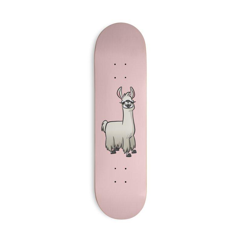 Llama Caricature Accessories Deck Only Skateboard by binarygod's Artist Shop