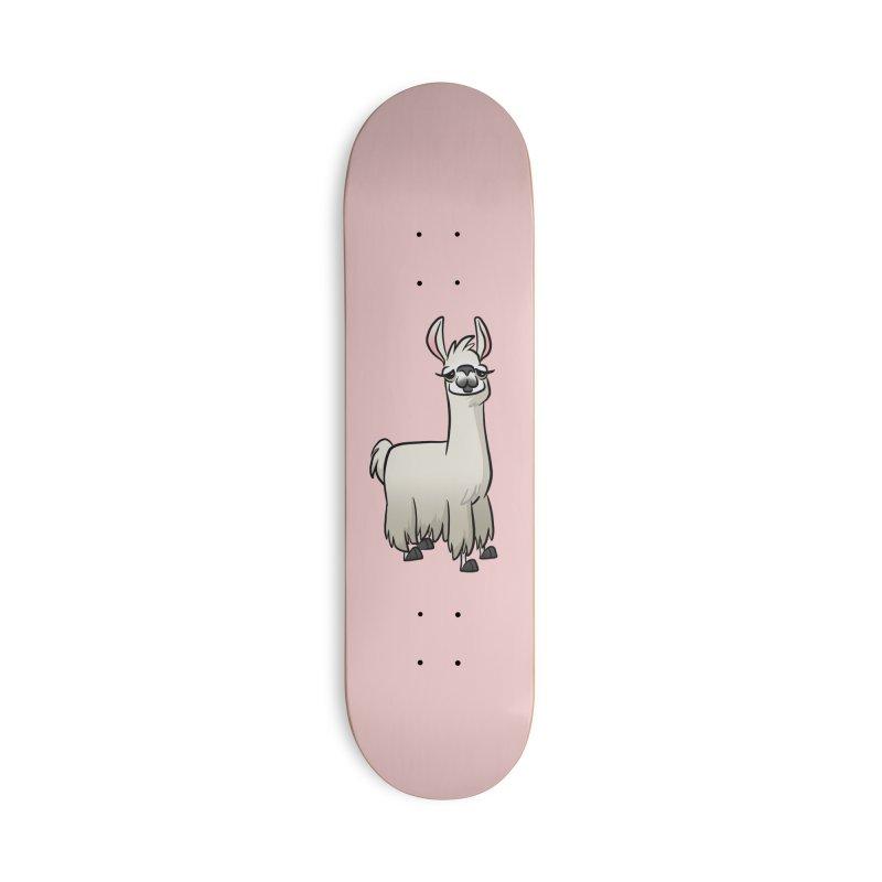 Llama Caricature Accessories Skateboard by binarygod's Artist Shop