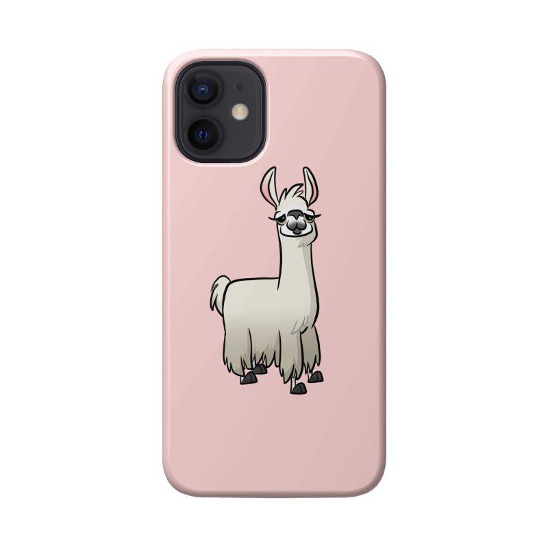 Llama Caricature Accessories Phone Case by binarygod's Artist Shop