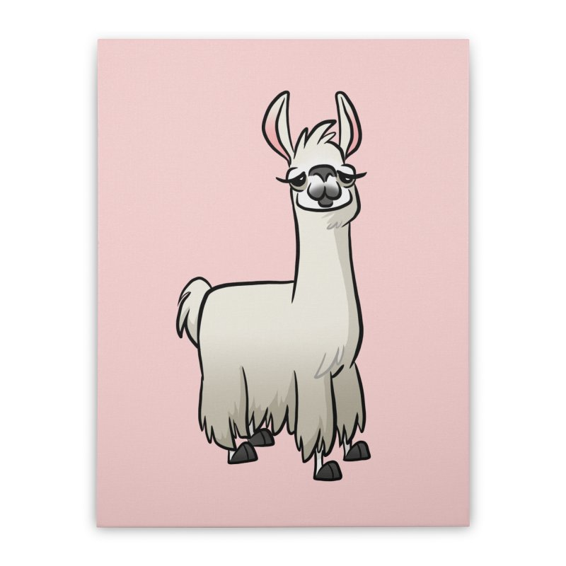 Llama Caricature Home Stretched Canvas by binarygod's Artist Shop