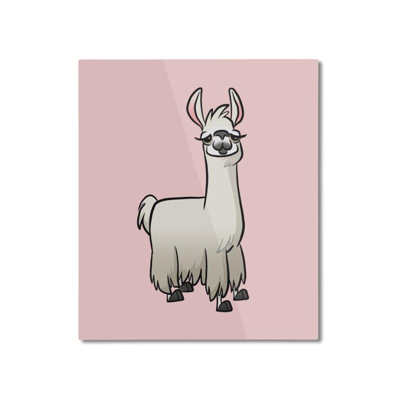 Llama Caricature Home Mounted Aluminum Print by binarygod's Artist Shop