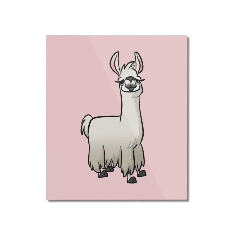 Llama Caricature Home Mounted Acrylic Print by binarygod's Artist Shop