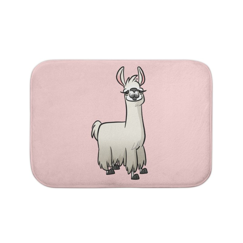 Llama Caricature Home Bath Mat by binarygod's Artist Shop