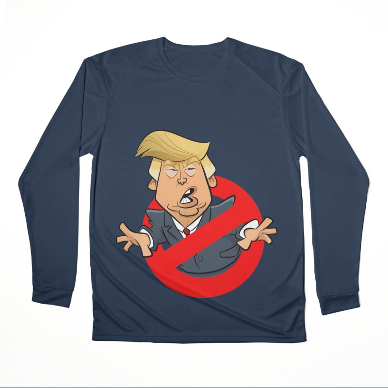 Trump Busters Men's Performance Longsleeve T-Shirt by binarygod's Artist Shop