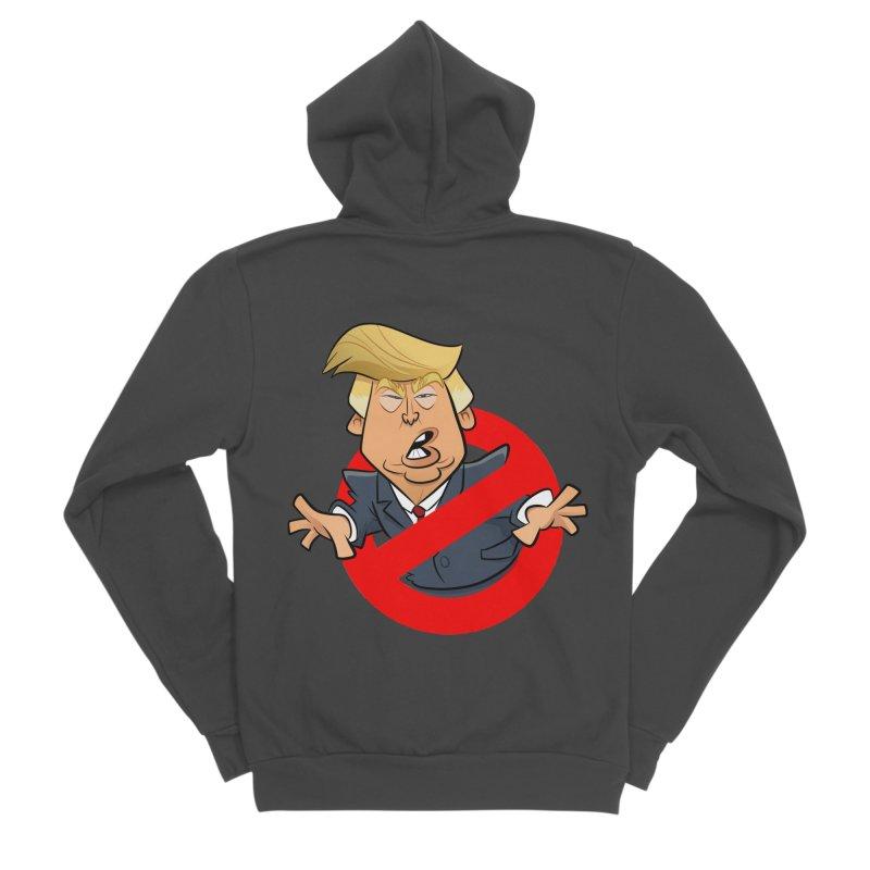 Trump Busters Men's Sponge Fleece Zip-Up Hoody by binarygod's Artist Shop