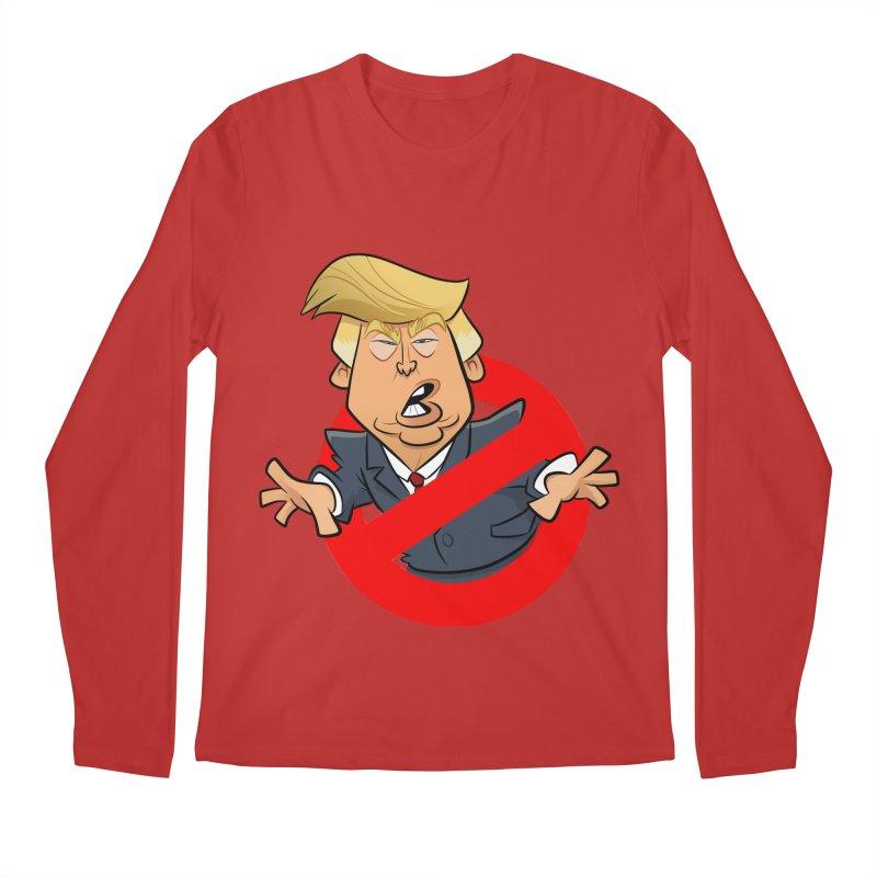 Trump Busters Men's Regular Longsleeve T-Shirt by binarygod's Artist Shop